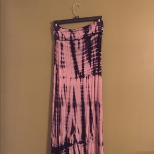 Tie dye maxi skirt size small